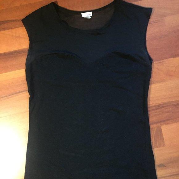 Black Tshirt with Mesh